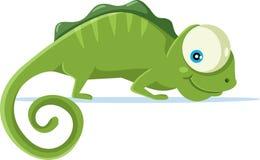 Ślicznego kameleonu kreskówki Wektorowa ilustracja ilustracji