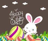 Ślicznego królika Wielkanocni jajka ilustracji