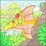 Ślicznego pterodaktyla śmieszna ilustracja Zdjęcia Royalty Free
