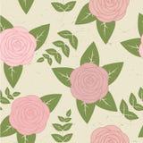 Ślicznego rocznika bezszwowy wzór z różami Obraz Royalty Free