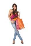 ślicznego zakupy uśmiechnięta kobieta Zdjęcia Stock
