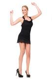Ślicznej Blond kobiety Cieszy się muzyka Zdjęcia Royalty Free