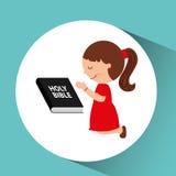 ślicznej dziewczyny biblii błogosławiona grafika royalty ilustracja
