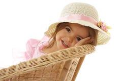 ślicznej dziewczyny mały ja target2316_0_ Zdjęcia Royalty Free