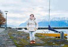 ślicznej dziewczyny mały plenerowy portret Zdjęcie Stock