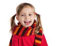 ślicznej dziewczyny mały szalik paskujący Zdjęcie Stock