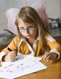 Ślicznej dziewczyny rysunkowi obrazki zdjęcia royalty free