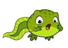Ślicznej kreskówki dziecka wektorowy tadpole patrzeje zaskakujący OMG, no! no! fac Obraz Royalty Free