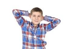 Ślicznej mody zrelaksowana chłopiec Fotografia Stock