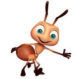 ślicznej mrówki śmieszny postać z kreskówki ilustracja wektor