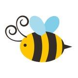 Ślicznej pszczoły latająca ikona royalty ilustracja