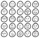 śliczni śmieszni ustaleni uśmiechy Fotografia Stock