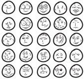 śliczni śmieszni ustaleni uśmiechy Obrazy Royalty Free