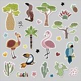 śliczni afrykańscy zwierzęta ilustracji