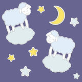 Śliczni cakle, księżyc i gwiazdy, Zdjęcia Royalty Free