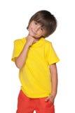 Śliczni chłopiec stojaki Obrazy Stock