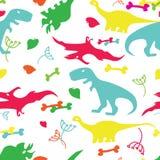 Śliczni dinosaury żadny skutki, żadny siatka Zdjęcia Stock
