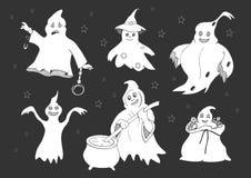 Śliczni duchy ustawiający ilustracja wektor