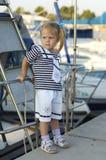 śliczni dziewczyny schronienia portreta jachtu potomstwa obrazy royalty free