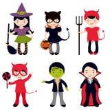 Śliczni Halloweenowi dzieciaki Zdjęcie Royalty Free