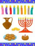 Śliczni Hanukkah symbole