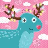 Śliczni kreskówek boże narodzenia jeleni Obrazy Stock