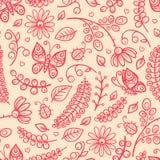 Śliczni Kwiaty i Motyle ilustracji