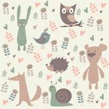 Śliczni lasowi zwierzęta Obraz Royalty Free