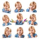 Śliczni mała dziewczynka portrety Zdjęcia Royalty Free