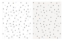 Śliczni Malutcy Abstrakcjonistyczni trójboka wektoru wzory Jaskrawy Delikatny projekt ilustracja wektor