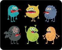 Śliczni potwory ustawiający. Fotografia Stock