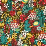 Śliczni ptaki i ładni kwiaty. Fotografia Stock