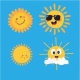 Śliczni słońce charaktery zdjęcia stock