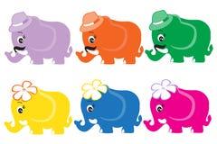 Śliczni słonie Obrazy Royalty Free