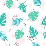 Śliczni tropikalni palma liście wektor Obraz Stock