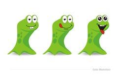 Śliczni zieleni potwory Zdjęcia Royalty Free