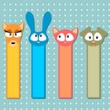 śliczni zwierzęcy bookmarks Royalty Ilustracja