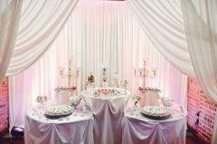 Śliczny ślubny bufet zdjęcia royalty free