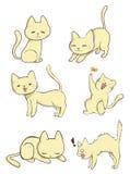 Śliczny żeński kot w akci royalty ilustracja