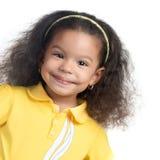 Śliczny afroamerican mały dziewczyny ono uśmiecha się Zdjęcia Royalty Free