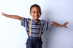 Śliczny afrykański dziecko w studiu Obraz Stock