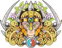 Śliczny Amazon, projektuje śmiesznego obrazka illustratio royalty ilustracja