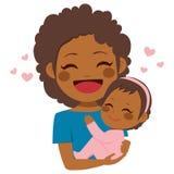 Śliczny amerykanin afrykańskiego pochodzenia matki dziecko ilustracji