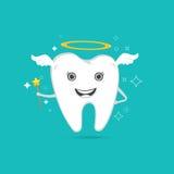 Śliczny anielski ząb ilustracji