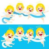 Śliczny aniołów Latać Zdjęcia Stock