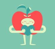 Śliczny Apple Ściska serce Fotografia Stock