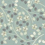 Śliczny bezszwowy wzór z dekoracyjnymi kwiatami i liśćmi Zdjęcia Royalty Free
