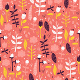 Śliczny Bezszwowy wzór z kwiatem i liśćmi Zdjęcie Royalty Free