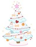 śliczny Bożego Narodzenia drzewo Obraz Stock