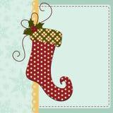 Śliczny bożych narodzeń nowego roku pocztówki szablon ilustracji